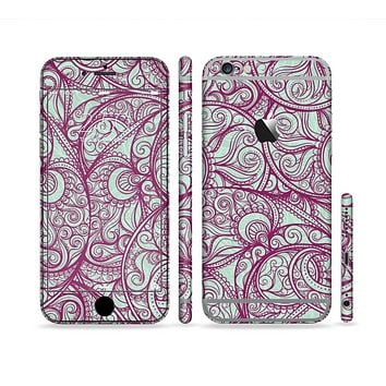 The Vector Purple Thin Laced Sectioned Skin Series for the Apple iPhone 6 Plus