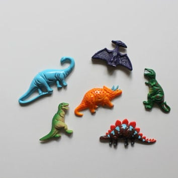 Vintage Dinosaur Fridge Magnets 1980s