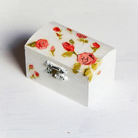 Small Ring Bearer Box - Pillow Alternative Floral, Rustic, Pastel