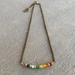 Chakra, fine faceted chakra gemstones chain choker, necklace