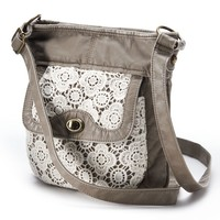 Mudd Crochet Crossbody Bag (Beige/Khaki)