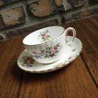 Antique Marlow Minton Swirl floral tea cup. Floral tea set, English tea set, swirl pattern