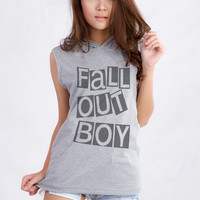 Fall Out Boy Hooded Tank for Teen Teenage Teenager Swag Dope Tumblr Instagram Blogger Clothes Women Fashion Shirt Chirstmas Gifts