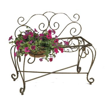 Deer Park 33 in. L x 15 in. D x 29 in. H Bench Planter (2-Pot)-BE203 at The Home Depot