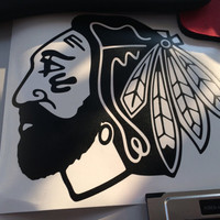 Chicago Blackhawks Playoff Beard Vinyl Decal - Sticker