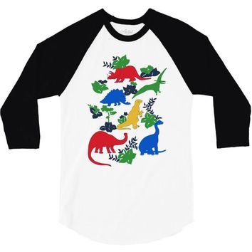 dinosaurs 3/4 Sleeve Shirt