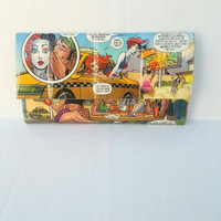 Harley Quinn, Poison Ivy, Catwoman Wallet - Handmade Upcycled Comic Book Women's Wallet