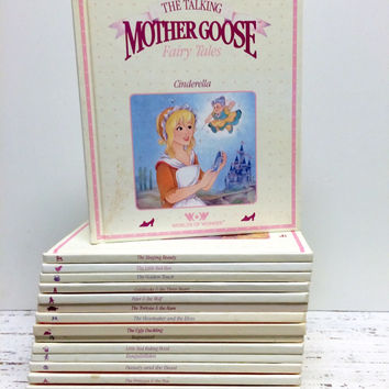 25 Mother Goose, Nursery Rhyme, Talking Mother Goose, Baby Shower, Fairytales, Nursery Rhymes, Children's Books,Vintage Kids Book Collection