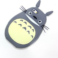 STORM MART Cute Cartoon Totoro 3d Soft Silicone Back Cases Covers for Apple for Apple iphone 6 (4.7-inch) (cat)