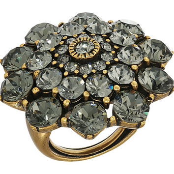 Oscar de la Renta Jeweled Ring Black Diamond - Zappos.com Free Shipping BOTH Ways