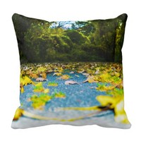 Falling Autumn Leaves Pillow