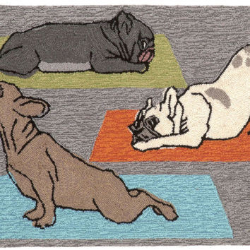 "Yoga Dogs Heather 24"" x 36"" Indoor/Outdoor Rug"