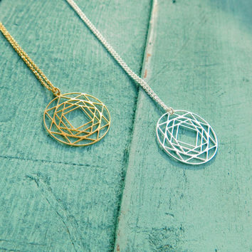 Kabbalah Necklace, Jewish jewelry, Flower of Life pendant, Gold symbolic Necklace, Sacred Geometry Pendant, Spiritual Jewelry, power jewel