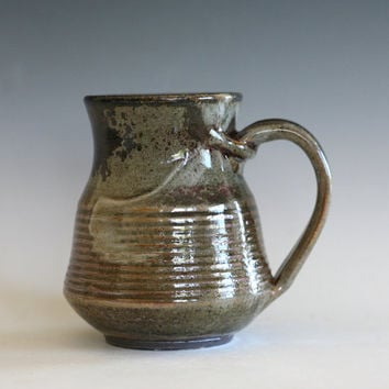 Coffee Mug Pottery, unique coffee mug, handmade ceramic cup, handthrown mug, stoneware mug, wheel thrown pottery mug, ceramics