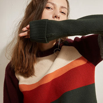 Long Sleeved Knit Sweater