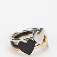 Urban Outfitters - Triple Heart Ring - Set of 3