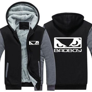 NEW USA Size MMA Badboy Bad Boy Men Hoodies Coat Winter Fleece Thicken Unisex Sweatshirts Jacket