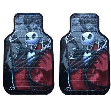 Licensed Official New Nightmare Before Christmas Car Truck Front / Back Rubber Floor Mats Keychain