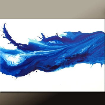 Abstract Canvas Art Painting 36x24 Original Modern Contemporary Paintings by Destiny Womack - dWo - Motion of Emotion