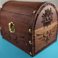 Zelda  Wooden Hyrule Treasure Chest by WarpZone on Etsy