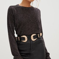 Black/Pink Metallic Mix Jumper