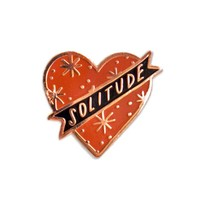 Solitude Heart Pin