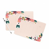 Pink Floral Weekly Desk Pad by RIFLE PAPER Co. | Made in USA