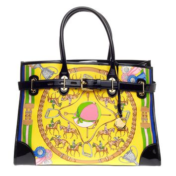 Buy Ralph Lauren Collection Spectator Tote Printed Silk And 964501 - Trendlee