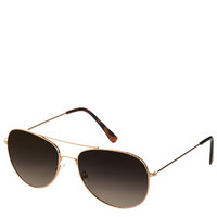 Alice Metal Aviator Sunglasses - Gold