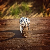 French Renaissance Sterling Spoon Ring