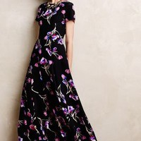 Dutch Crocus Silk Maxi Dress