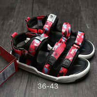 New Balance Fashion Casual Caravan Multi Sandals Camouflage Red G-AHXF