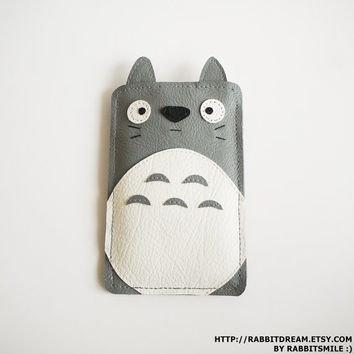 My Neighbor Totoro iPhone 5 Case ,iPhone 5s Case, iPhone 5c Case, Cover, Faux Leather Apple iPhone 5 Sleeve, Soft Case