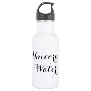 Unicorn Water funny hipster humor quote saying Water Bottle