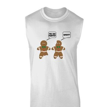 DCKL9 Funny Gingerbread Conversation Christmas Muscle Shirt