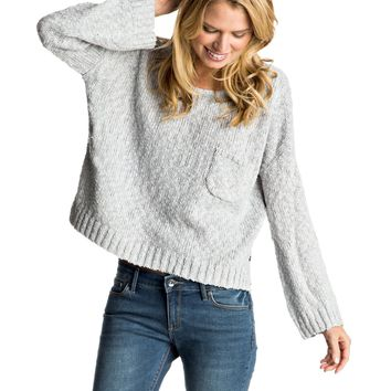 Don't Think Twice Cropped Sweater 889351601872   Roxy