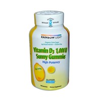 Rainbow Light Vitamin D Sunny Gummies Sour Lemon 1000 IU 100 Gummies