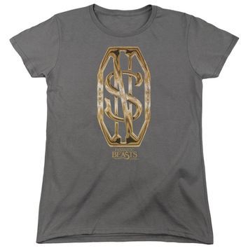 Fantastic Beasts - Scamander Monogram Short Sleeve Women's Tee Shirt Officially Licensed T-Shirt