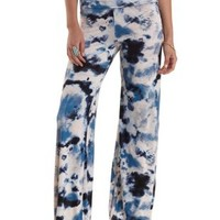 Multi High-Waisted Tie-Dye Palazzo Pants by Charlotte Russe