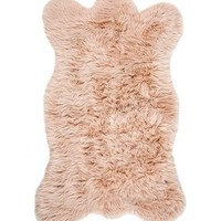 Blush Bear Faux Fur Chair Cover