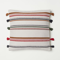 Striped Cushion Cover - Light beige/striped - Home All | H&M US