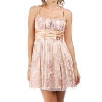 Bristol-Ivory Homecoming Dress
