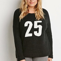 Textured Graphic Sweater