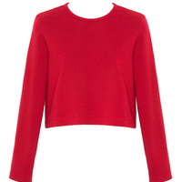 Mathiasen Red Long Sleeve Ponte Box Top