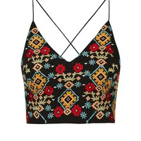 Embroidered Bralet - Topshop