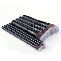 8Pcs Soft Synthetic Hair Make Up Tools Kit Cosmetic Beauty Black Makeup Brush Sets SV011419|27701 = 5987503361