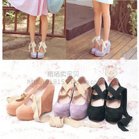Taobao Popular Specials KATIE AMO show sweet strap matte slope with a wild and high heelssywtsssolhh from English Agent:BuyChina.com