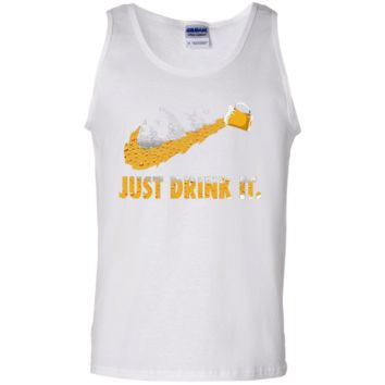 dabcd9f89 JUST DRINK IT BEER FUNNY DRINKING T SHIRTS FOR BEERAHOLIC 100% C