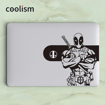 Deadpool Dead pool Taco Glowing Logo Design  Laptop Decal Sticker for Apple MacBook Skin Air 13 Pro Retina 11 12 15 inch Mi Surface Book Sticker AT_70_6