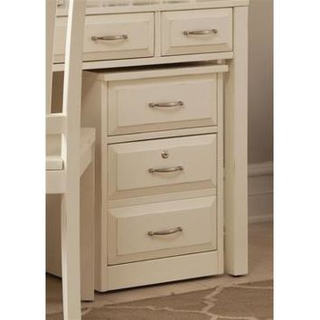 Liberty Furniture Hampton Bay Mobile File Cabinet in White Finish